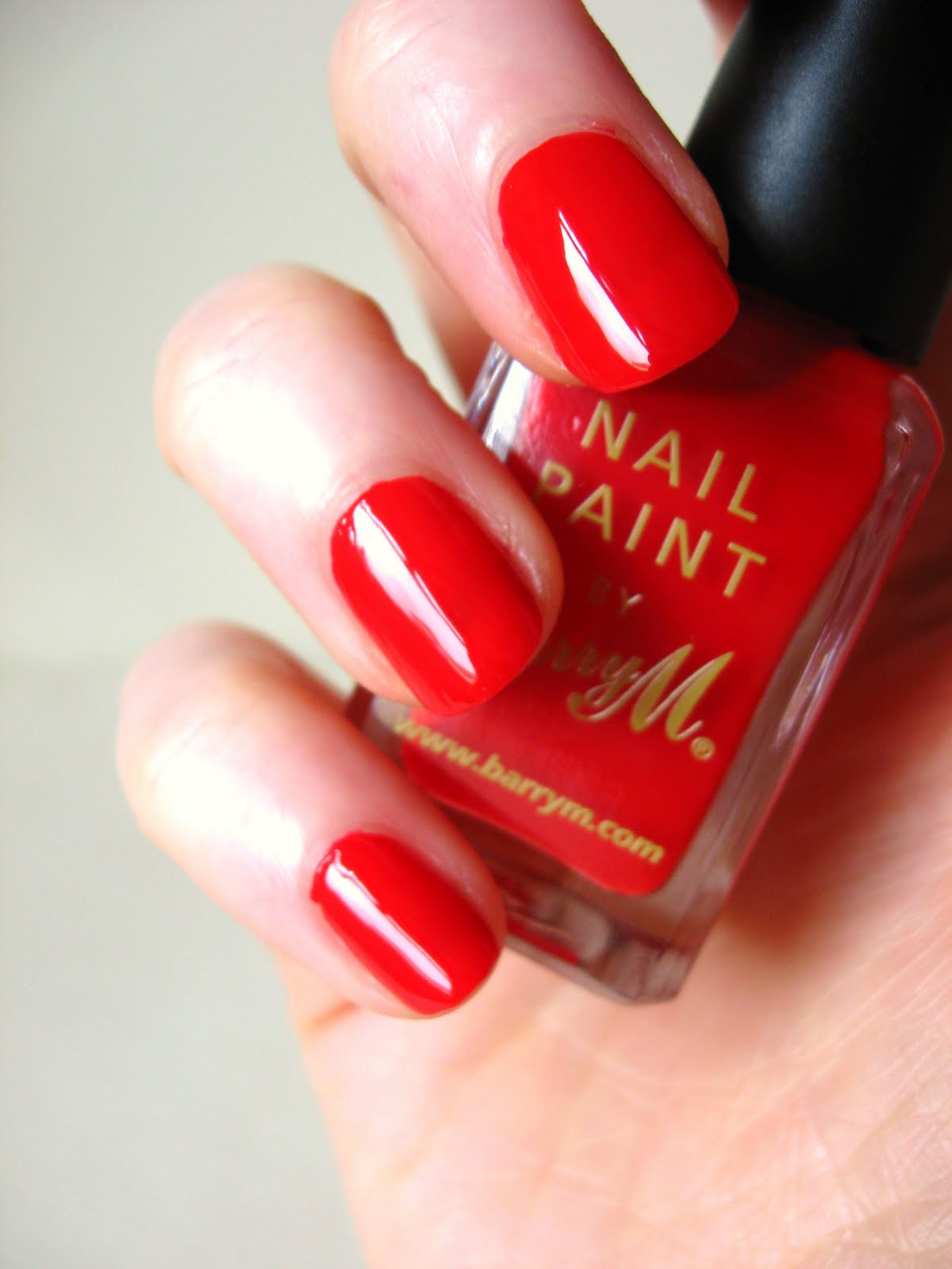 NOTD - Barry M Bright Red | Makeup Savvy - makeup and beauty blog