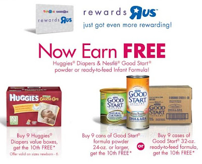 Sign up for Rewards Program below (Free diapers wyb 9 boxes and free