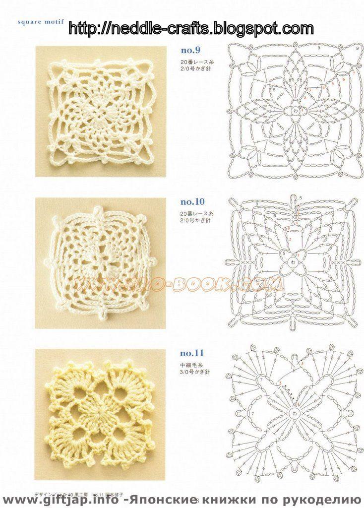 Фото и схема мотивов вязаные крючком