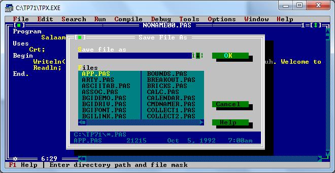 скачать Turbo Pascal 7.1 - фото 11