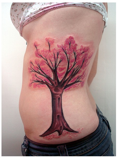 cherry blossom tree tattoos for women. cherry blossom tree tattoos