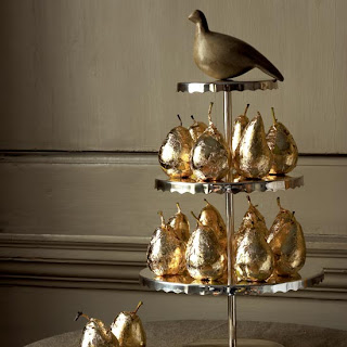 gilded partridge and pear tower