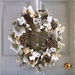 holiday wintery wreath
