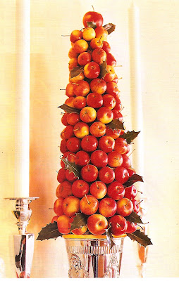 fresh apple holiday topiary
