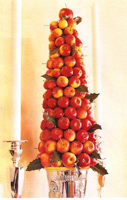 fresh apple holiday topiary