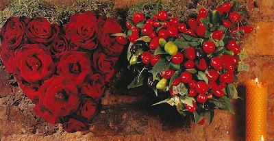 fresh flower heart arrangements
