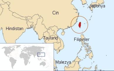 Tayvan'ın Dünya Haritasındaki Yeri