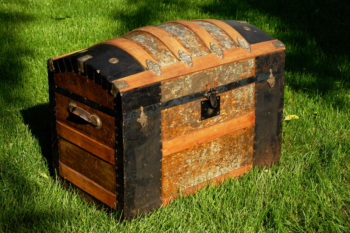 antique steamer trunk treasure chest by Selep Imaging