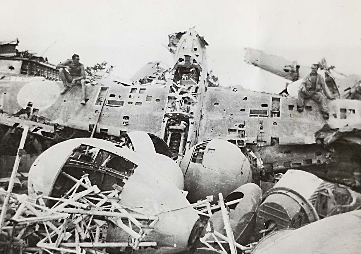 World War 2 Okinawa Planes Damage