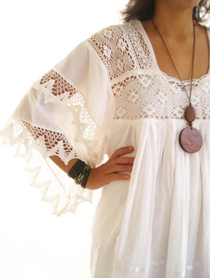 I found it awesome that it was actually worn as a wedding dress bohemian