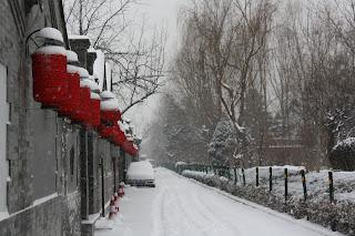 beijing streets snow
