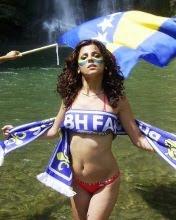 BH Fanaticos, sexi navijačica Bosne i Hercegovine download besplatne slike pozadine za mobitele