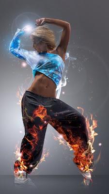 Vatrena plesačica download besplatne pozadine slike za mobitele