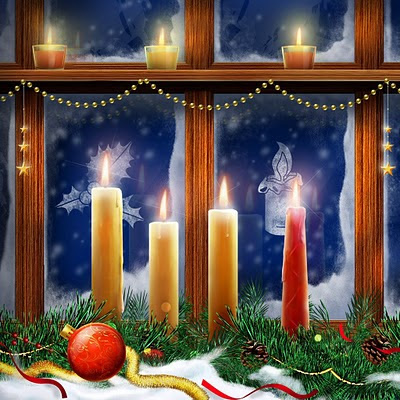 Christmas candles download free wallpapers backgrounds for Apple iPad