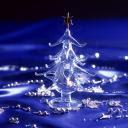 Stakleni Božićni bor download besplatne slike pozadine za mobitele