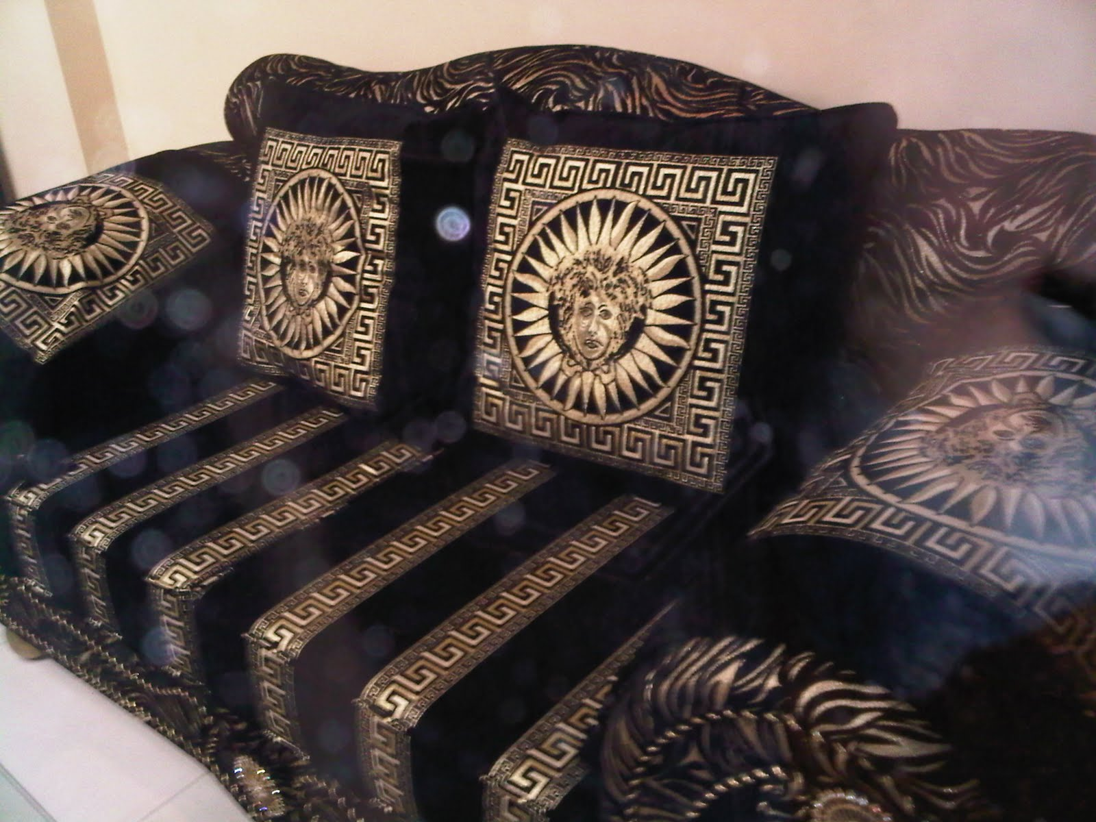 we need a new man hackney versace home collection. Black Bedroom Furniture Sets. Home Design Ideas