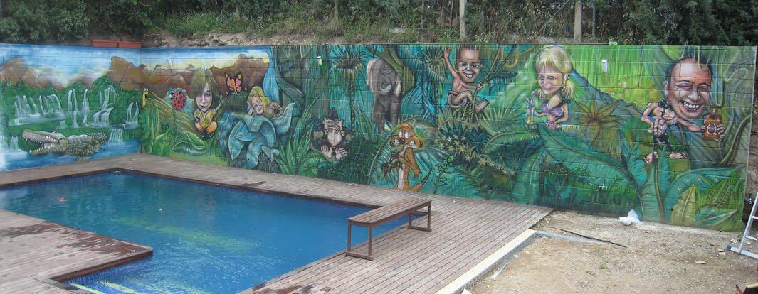Berok graffiti mural profesional en barcelona pintura for Murales de pared de paisajes