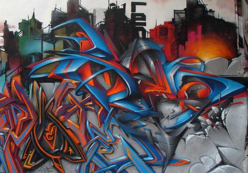 Berok graffiti mural profesional en barcelona los mejores for Graffitis para habitaciones