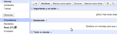 Gmail - Bandeja de correo prioritario