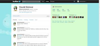 Nuevo Twitter - Perfil