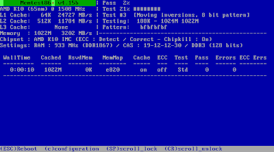 Hiren's Boot CD 11.1 - Memtest86
