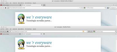 Diseño Firefox 4 vs Firefox 3