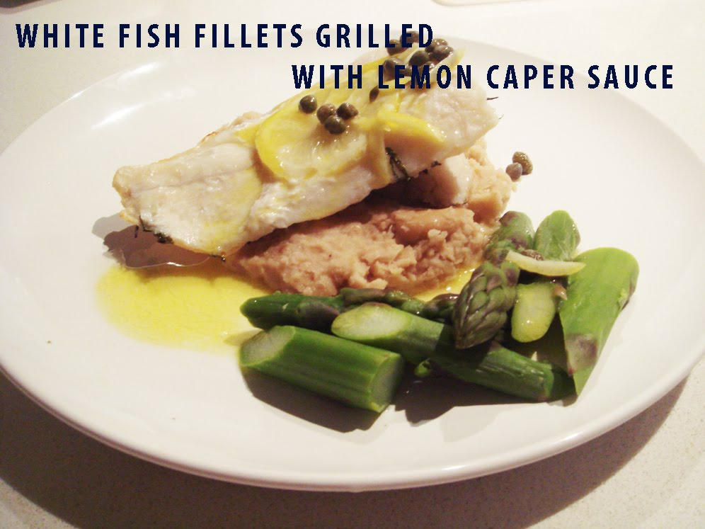 Eat plan survive recipe white fish fillets with lemon for Lemon butter caper sauce for fish