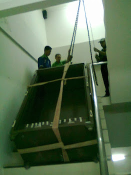 Pindahan 3 unit brandkas di Kampus STAN JKT