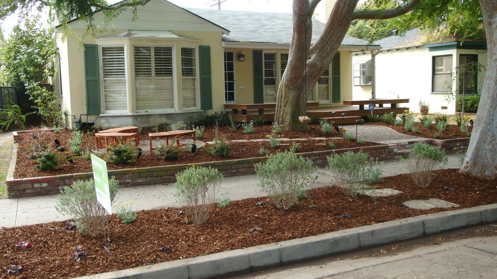 2303 21 Lawn Free Drought Tolerant Yards additionally Water Wise Landscape Designs Front Yard furthermore Ideas For Front Yard Mulch besides  in addition 11 Inspirational Rock Gardens To Get You Planning Your Garden. on drought tolerant front yard makeover