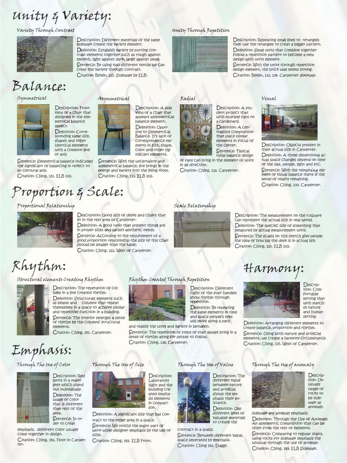123 analyzing elements principle of design on campus - Elements And Principles Of Interior Design