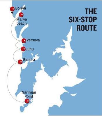 Mumbai Hovercraft routes