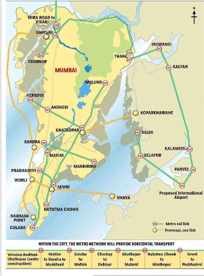 mumbai transportation metro monorail sealink map