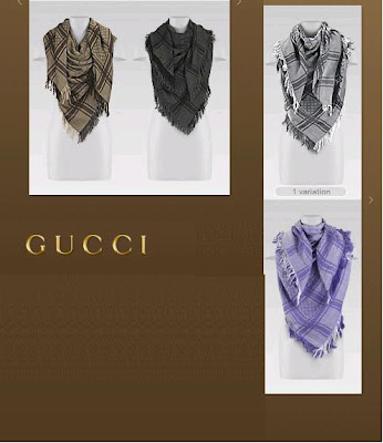 I WANTED TO GET A GUCCI SCARF !!! REALLY BADLY!