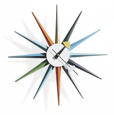 funkoma vintage the recycled life sunburst industrial clock. Black Bedroom Furniture Sets. Home Design Ideas