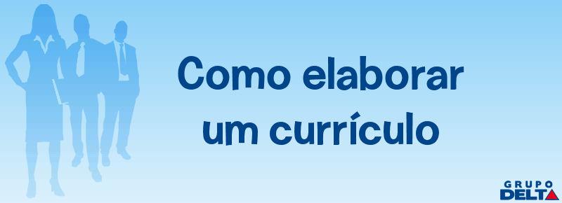 .::Como Elaborar um Currículo::.