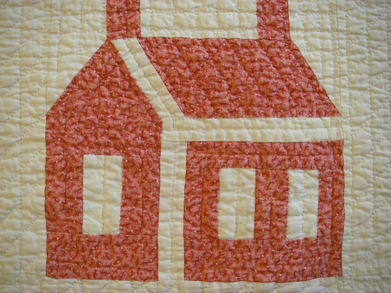 Quilt Block Patterns Of Houses : Repro Quilt Lover: I heart house quilts