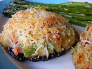 St. Andre and Crab Stuffed Portobello Mushroom Recipe