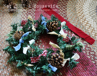 6 My 5 minute $1 Christmas Wreath