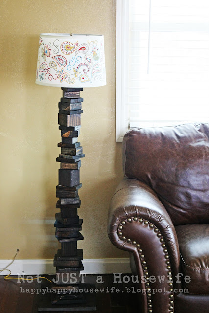 1 My scrap wood lamp with hand painted shade