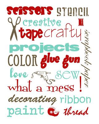 craftprintable1a FREE Craft Room Printables