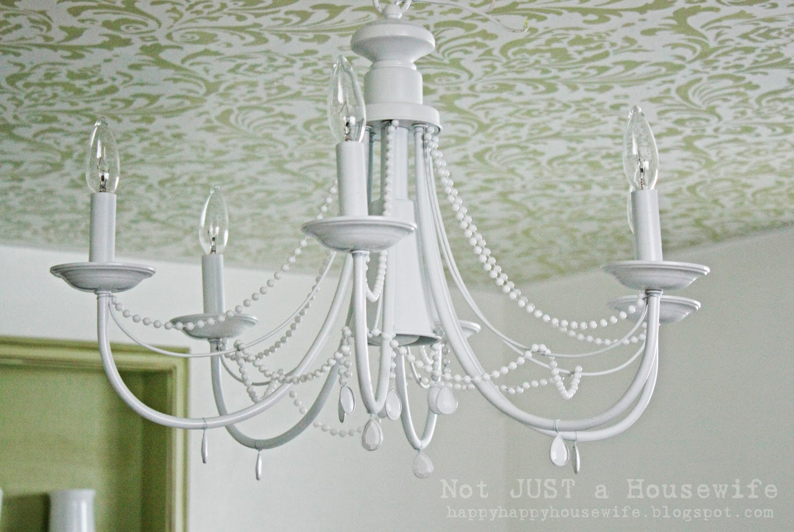 Stenciled Ceiling Stacy Risenmay Boxes Used For Lights Arent Strong Enough To Hold A