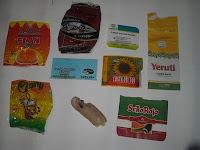 Etiquetas de la mercadería que están enviando en el SAE... No puede ser inferior la calidad, una vergüenza
