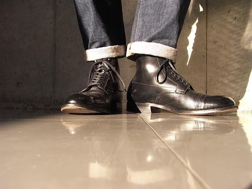 alden cap toe boots