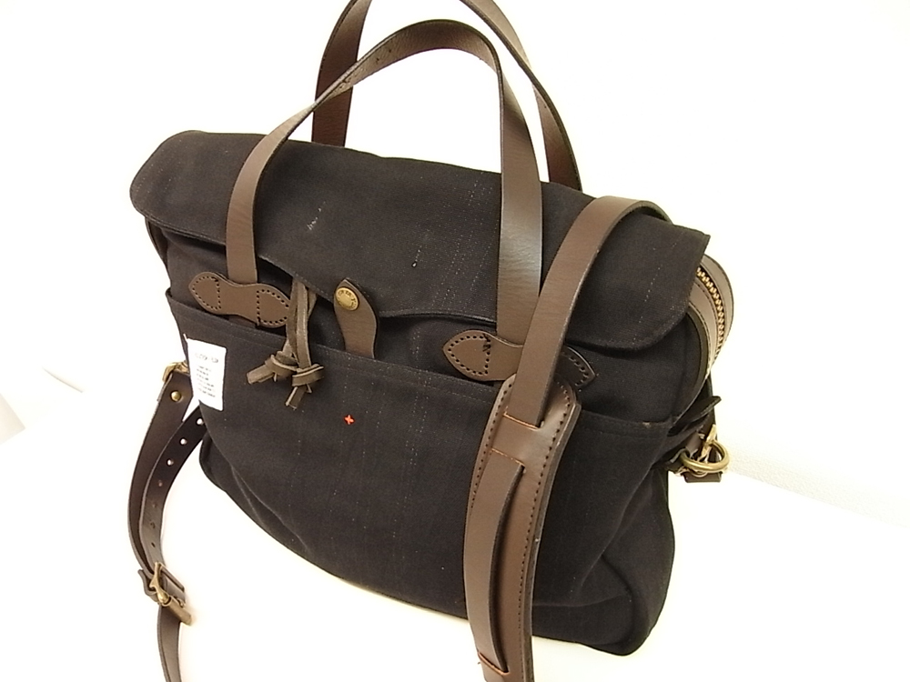 filson + apolis philanthropist briefcase