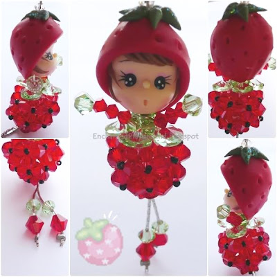 Ms Starry Strawberry (Swarovski Accessories) - Year End Sale Dis