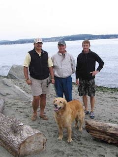 Me, Dad, Stuart and Charlie at Smugglers Cove beach