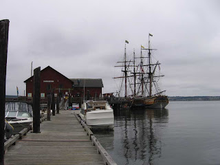 The Hawaiian Chieftain and The Lady Washington at Coupeville Wharf