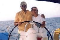 John and Nan at the helm