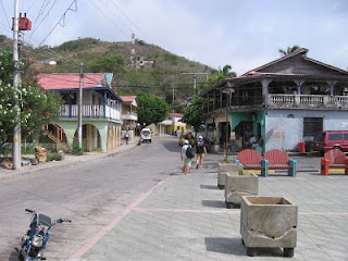 Street scene in Providencia near the public dock