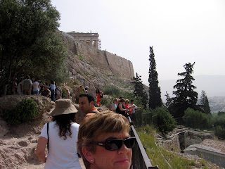 Nan at the Acropolis in Athens, Greece